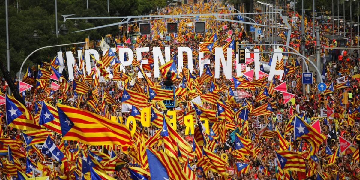 FOTOS. Miles de independentistas toman las calles en el Día de Cataluña