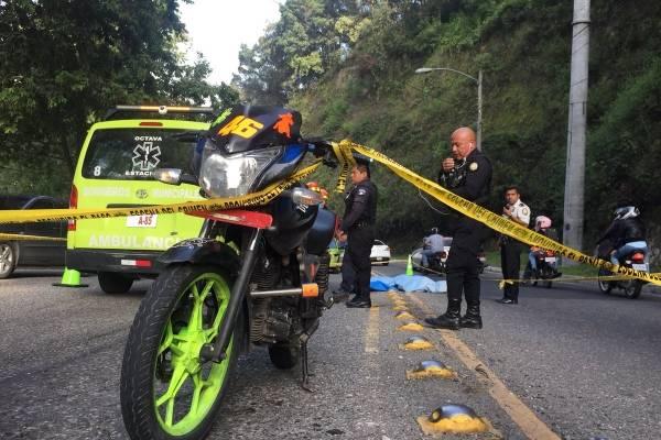 sicarios en moto atacados en calzada La Paz