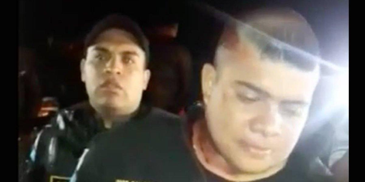 VIDEO. Agente PNC, en aparente estado de ebriedad, atropelló a motoristas en ruta a Ciudad Quetzal