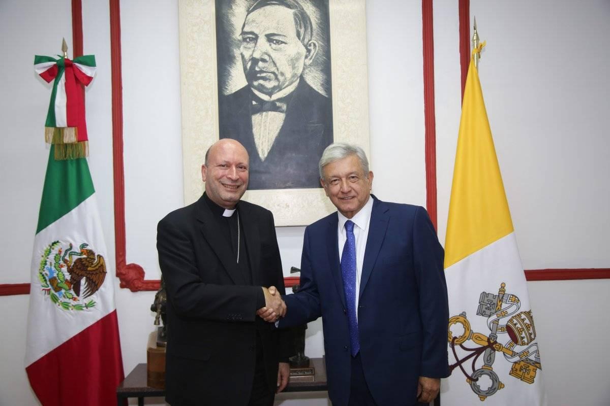 Con Franco Coppola, nuncio apostólico. Foto: Cuartoscuro