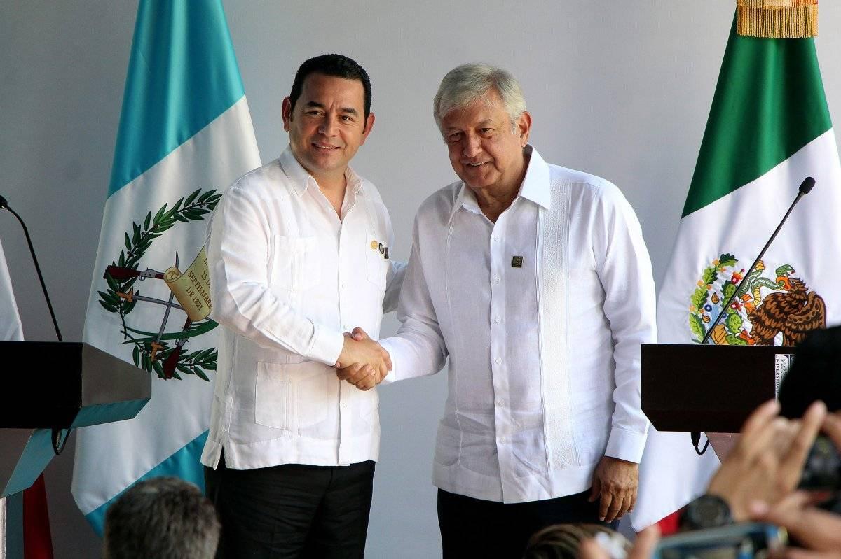 Con Jimmy Morales, presidente de Guatemala Foto: Cuartoscuro