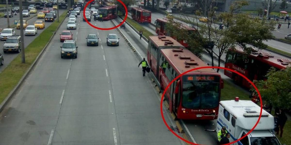 ¡Atención! Demoras en Transmilenio por accidente