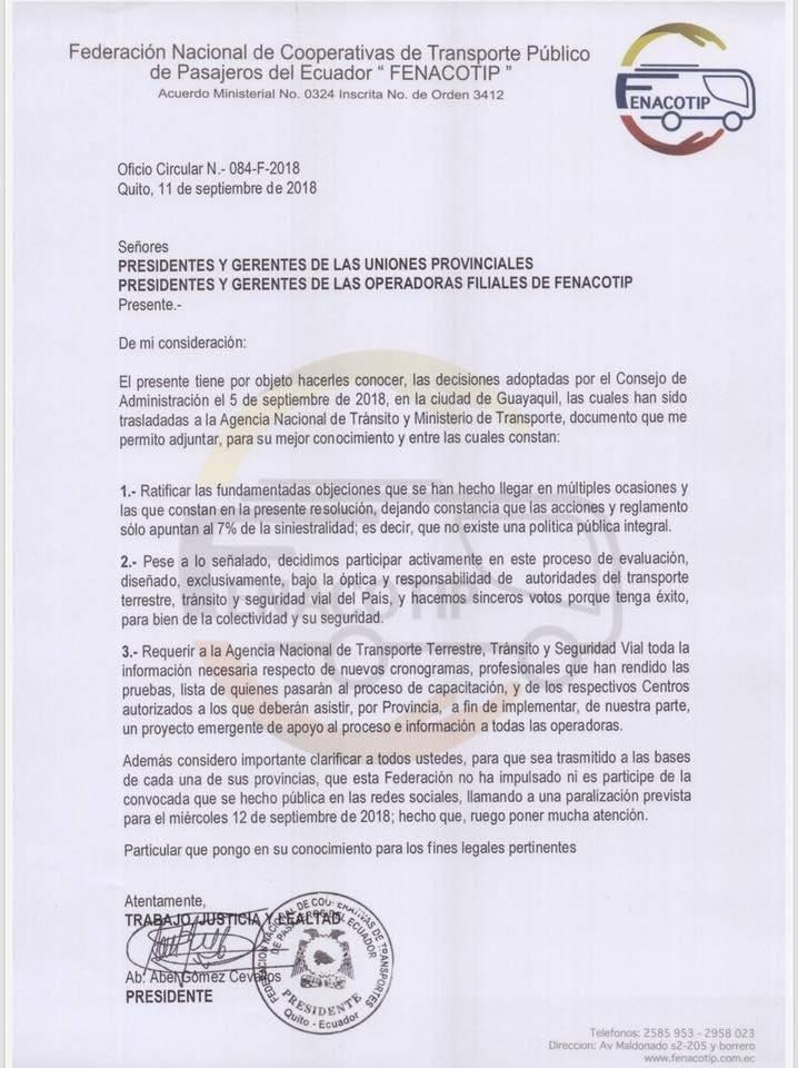 Paro de transportistas en varias provincias de Ecuador Twitter