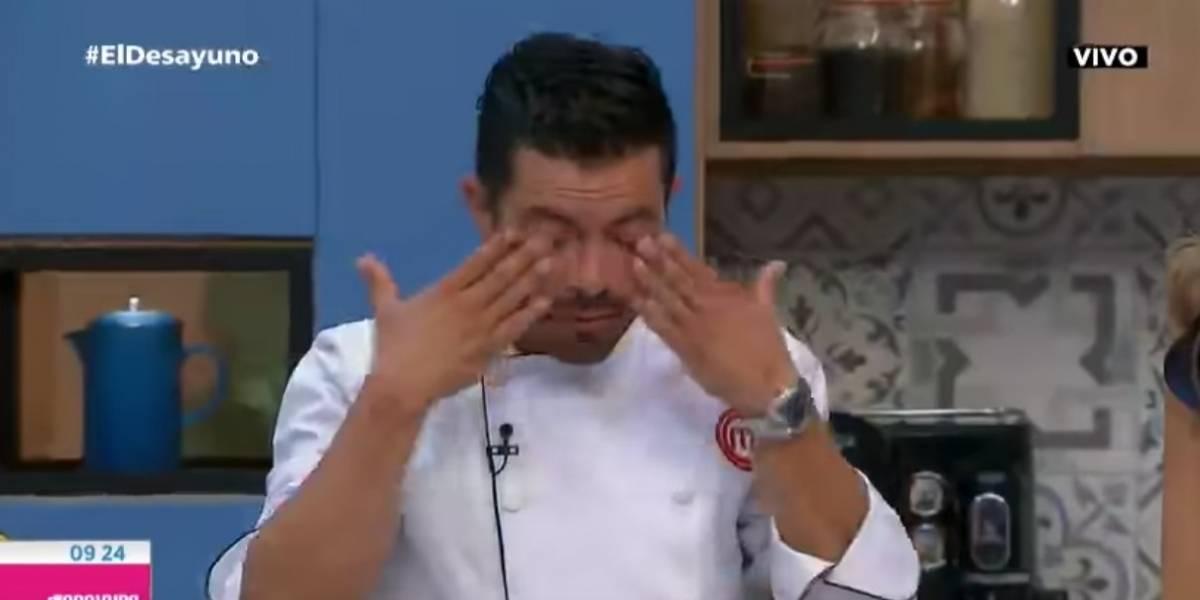 Piter Albeiro lloró al hablar de la dura enfermedad de su padre