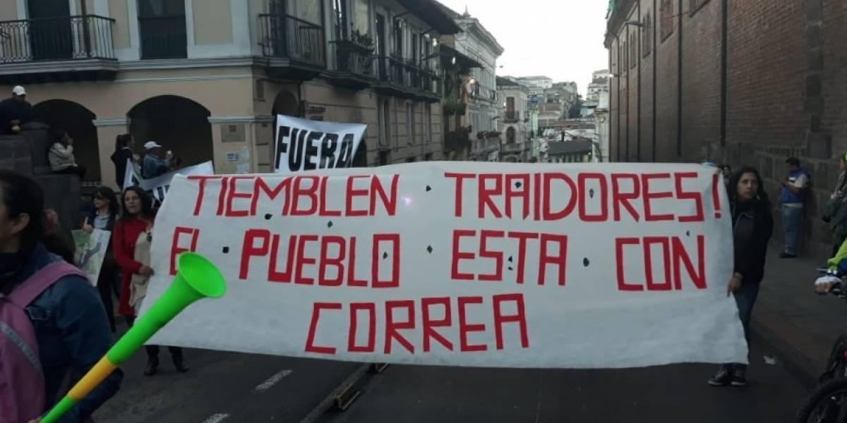Partidarios de Rafael Correa convocan a marcha para el 13 de septiembre