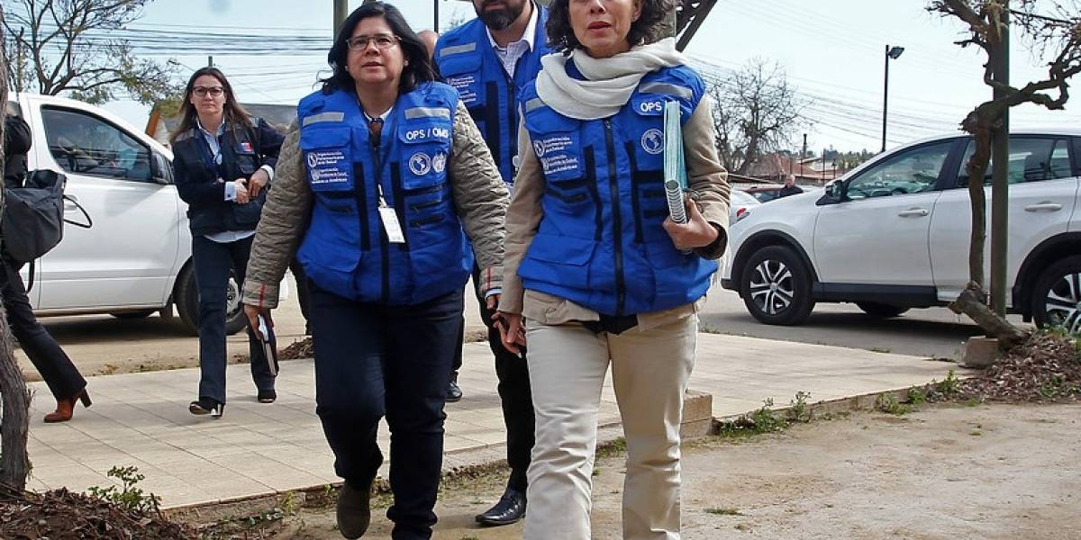 Funcionarios de la Organización Mundial de la Salud supervisan crisis ambiental en Quintero y Puchuncaví