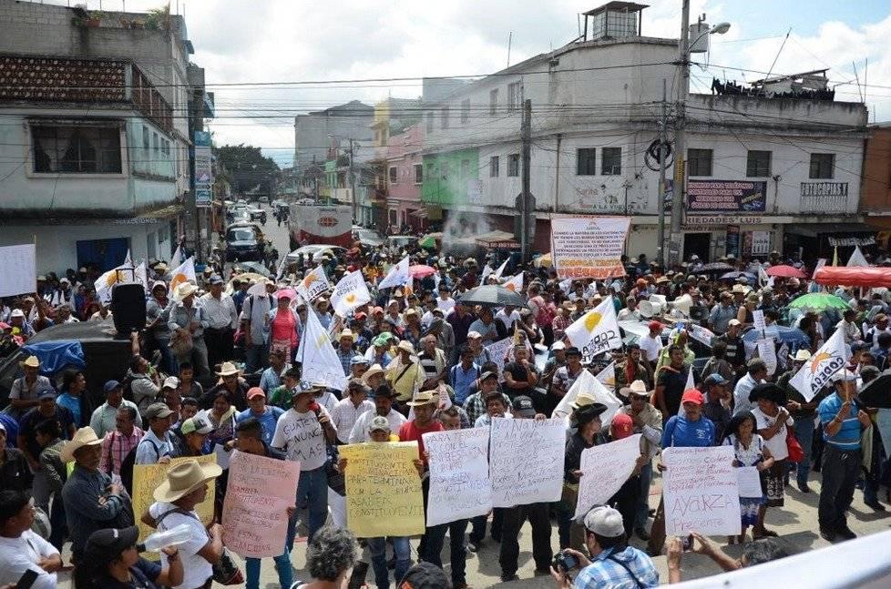 Los manifestantes de Codeca se llegaron al Ministerio Público.