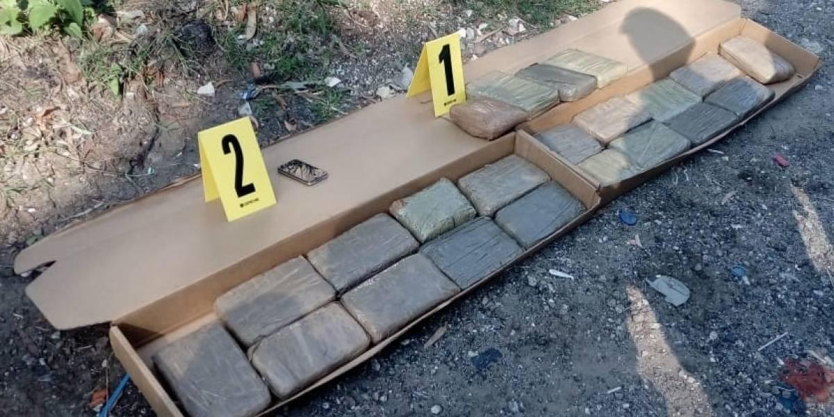 Decomisan paquetes con cocaína tras operativo en Villa Nueva