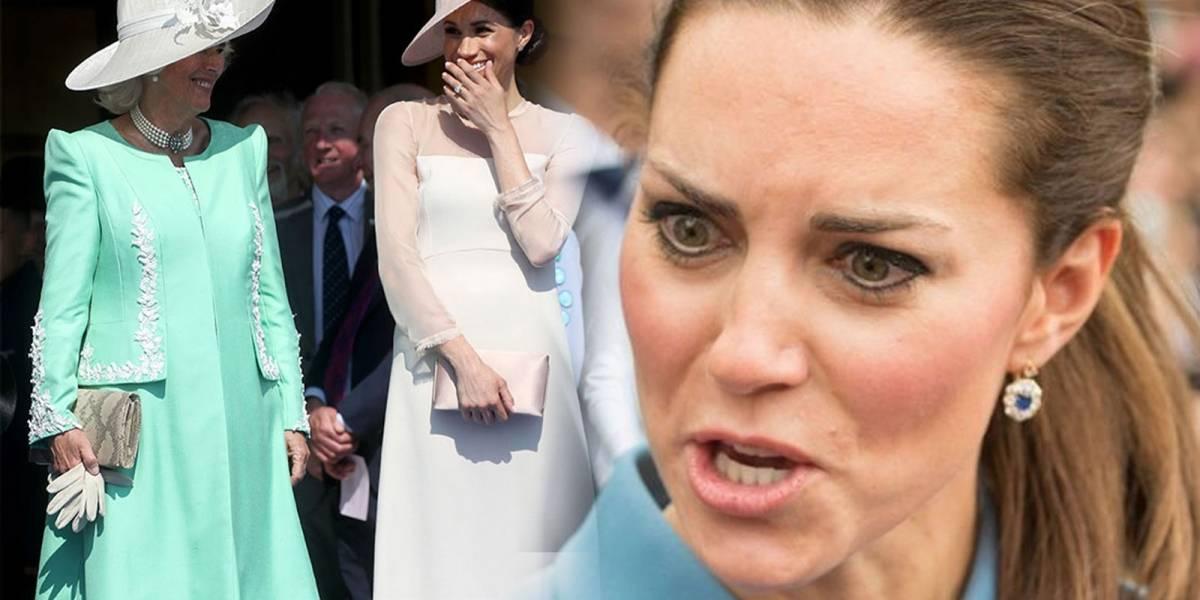 ¡Guerra de nueras! Camilla le regaló a Meghan Markle el mismo brazalete que le dio a Kate Middleton