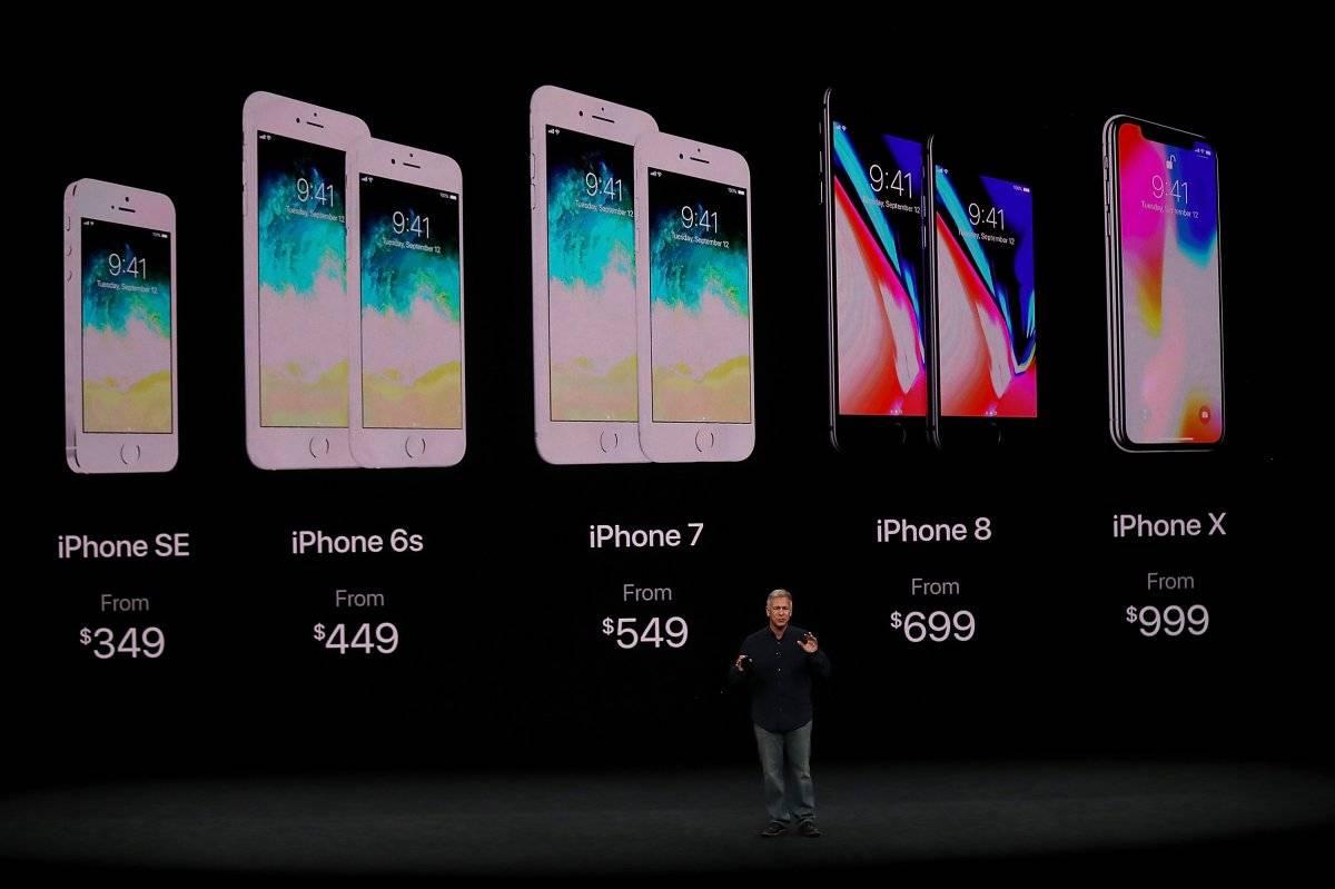 12 de septiembre de 2017: Apple presenta el iPhone X, junto con el iPhone 8 y el iPhone 8 Plus, todos los cuales admiten carga inalámbrica. Foto: Getty Images