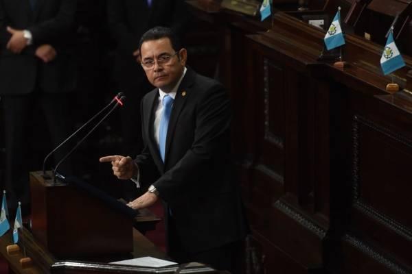 presidente Jimmy Morales en sesión solemne por la Independencia