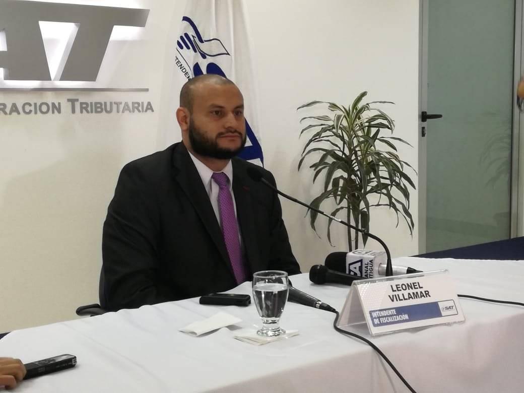Leonel Villamar, intendente de fiscalización SAT