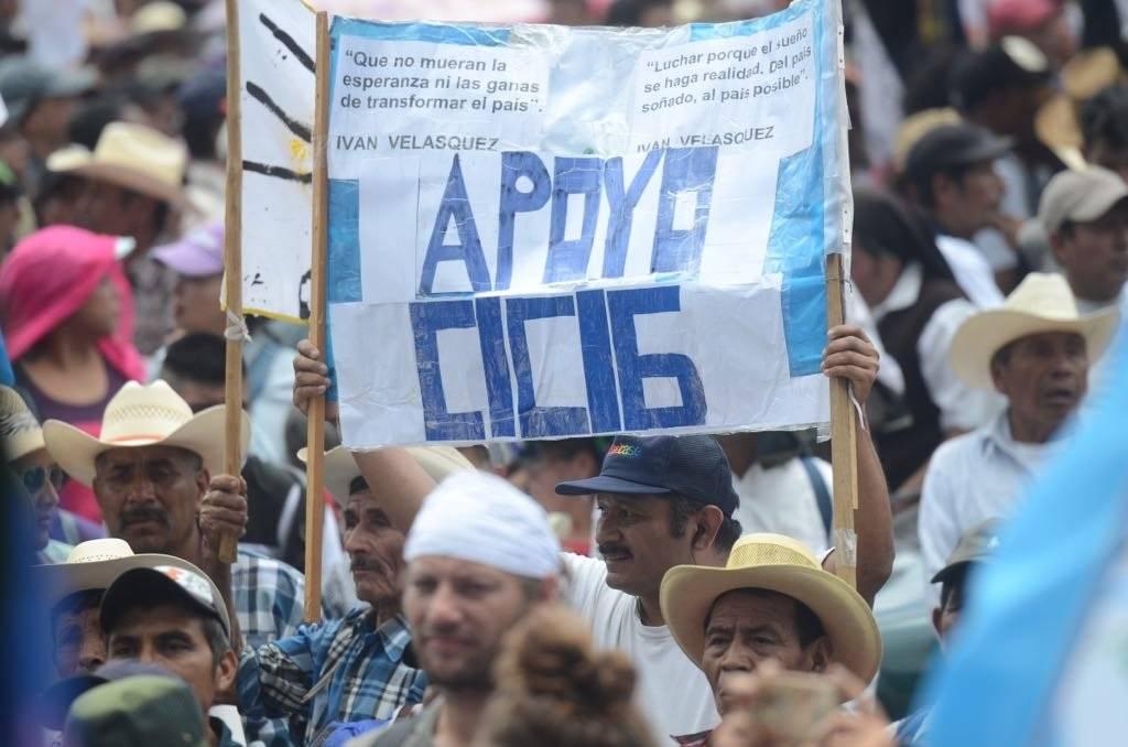 Miles de personas se han manifestado en contra de la no renovación del mandato de la CICIG