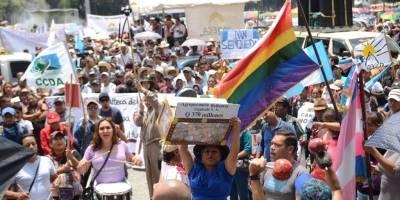 manifestación de Codeca a favor de CICIG