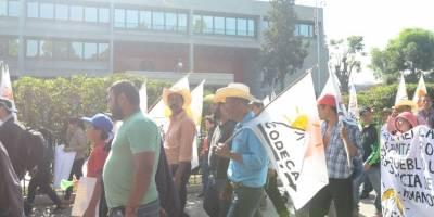manifestación de Codeca en la avenida Reforma