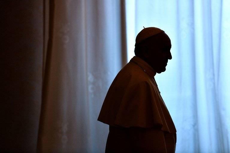 Silueta del papa Francisco