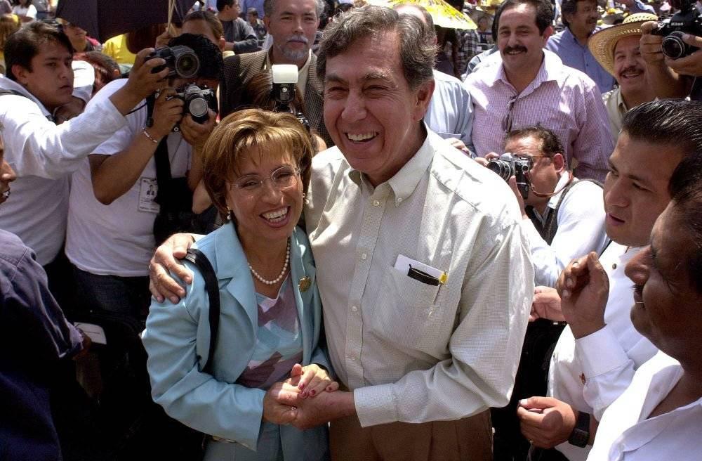 Rosario Robles y Cuauhtémoc Cárdenas Foto: Cuartoscuro