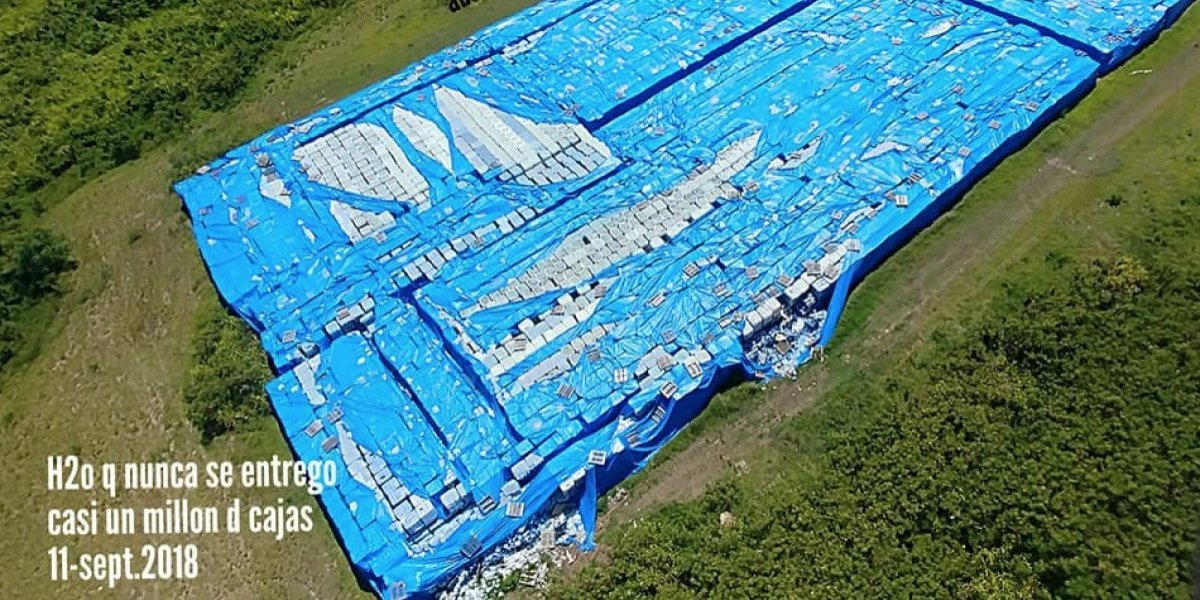 Puerto Rico indaga hallazgo agua abandonada destinada a víctimas ciclón María