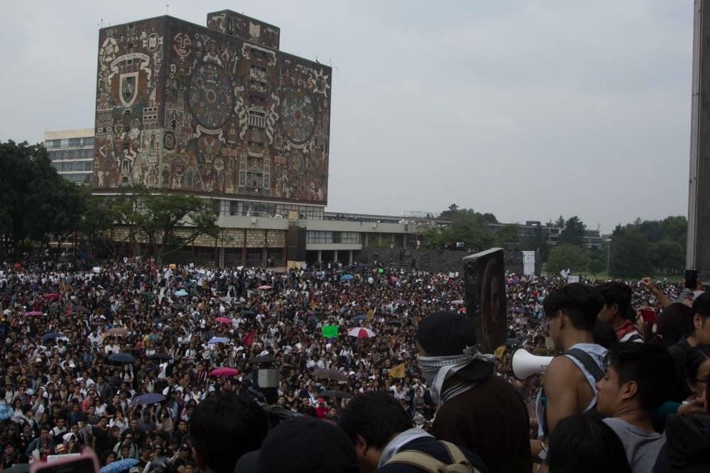 La manifestación de hace 50 años convocó a unas 300 mil personas Foto: Cuartoscuro