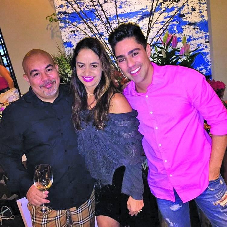 De bem com a vida: Elcio Teixeira, Raquel Brandão e Dudu Corona | Arquivo pessoal