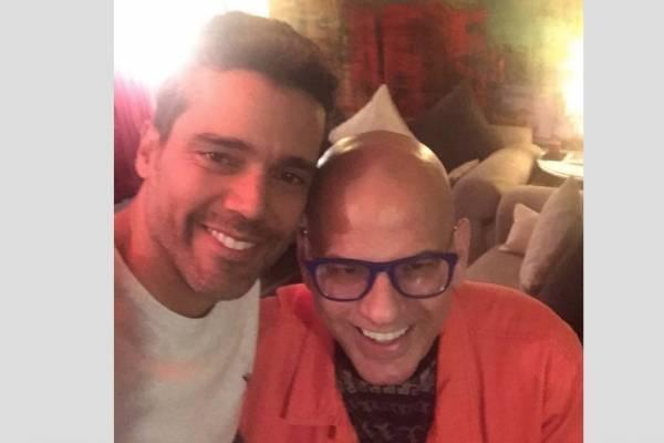 Alejandro García y su mánager, Gabriel Blanco
