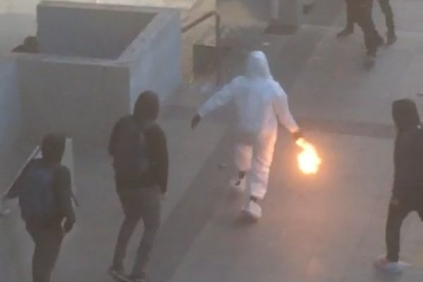 Las violentas imágenes en el Liceo de Aplicación