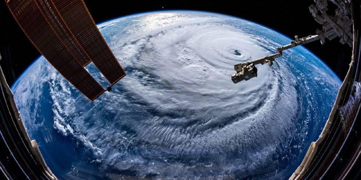 Así luce el huracán Florencia desde el espacio y sí da miedo