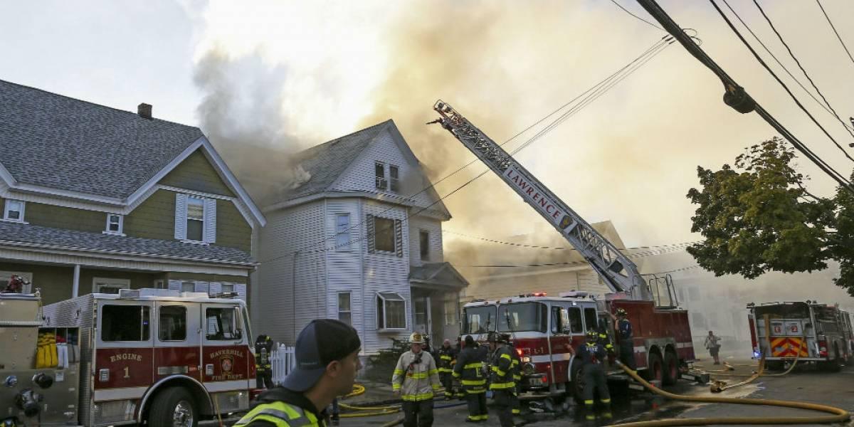 Serie de explosiones daña al menos 23 edificios en Massachusetts