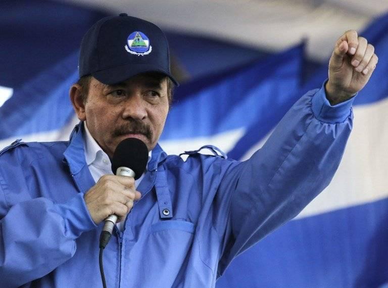 Daniel Ortega durante un discurso