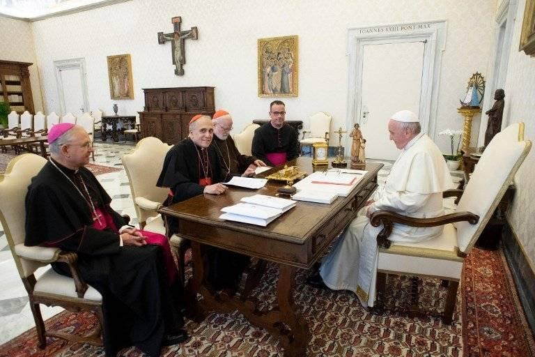 Papa se reúne con la Iglesia de Estados Unidos
