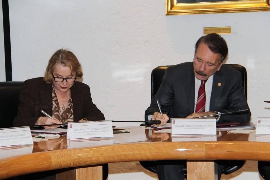Mario Alberto Rodríguez Casas dijo que la institución colabora con el Gobierno de la CDMX para garantizar la integridad de los estudiantes. Foto: IPN