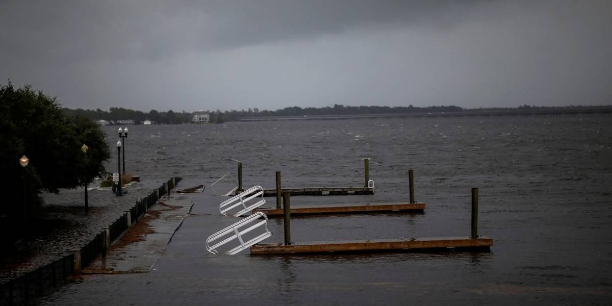 Alerta! Furacão Florence toca a terra na costa da Carolina do Norte