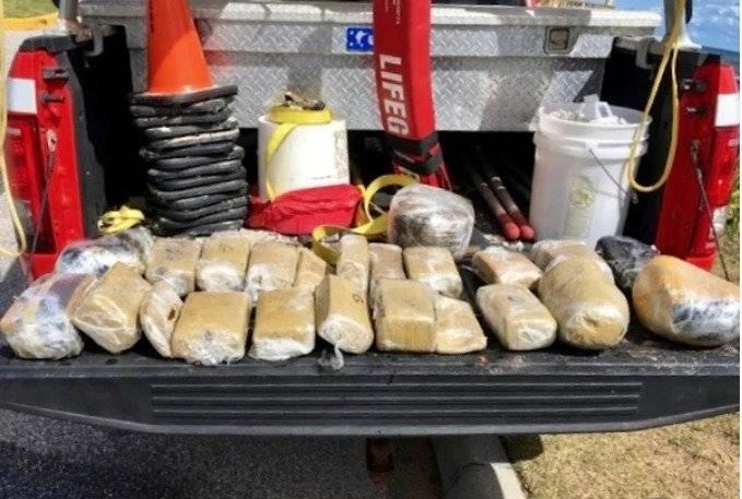 Huracán Florence arrastró un paquete con 23 ladrillos de marihuana a una playa de Florida Twitter
