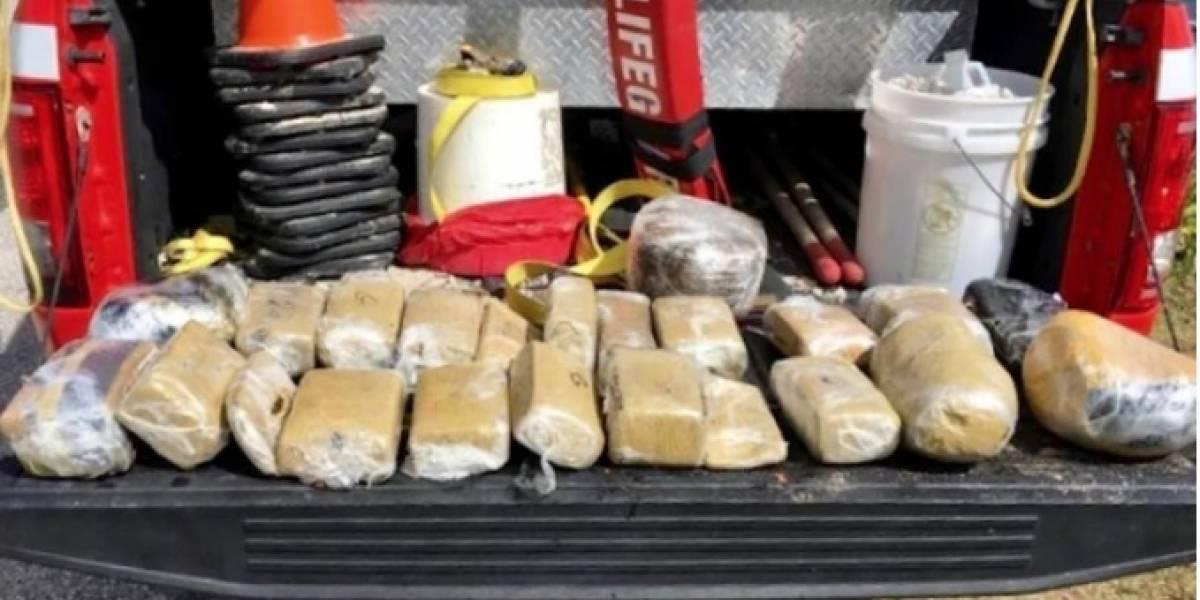 Huracán Florence arrastró un paquete con 23 ladrillos de marihuana a una playa de Florida