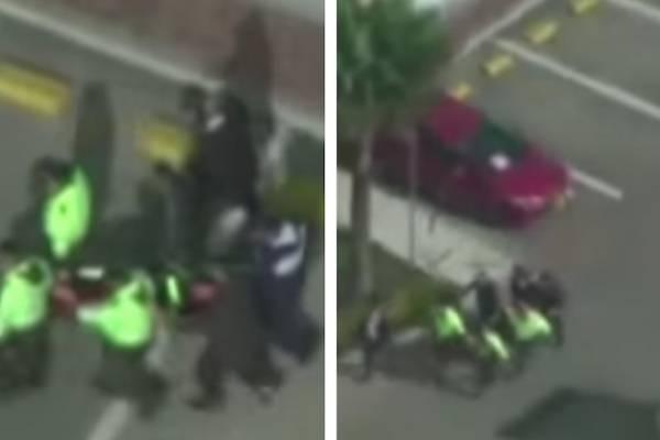 como no llegó la ambulancia, la subieron a una camilla y la llevaron a pie al hospital
