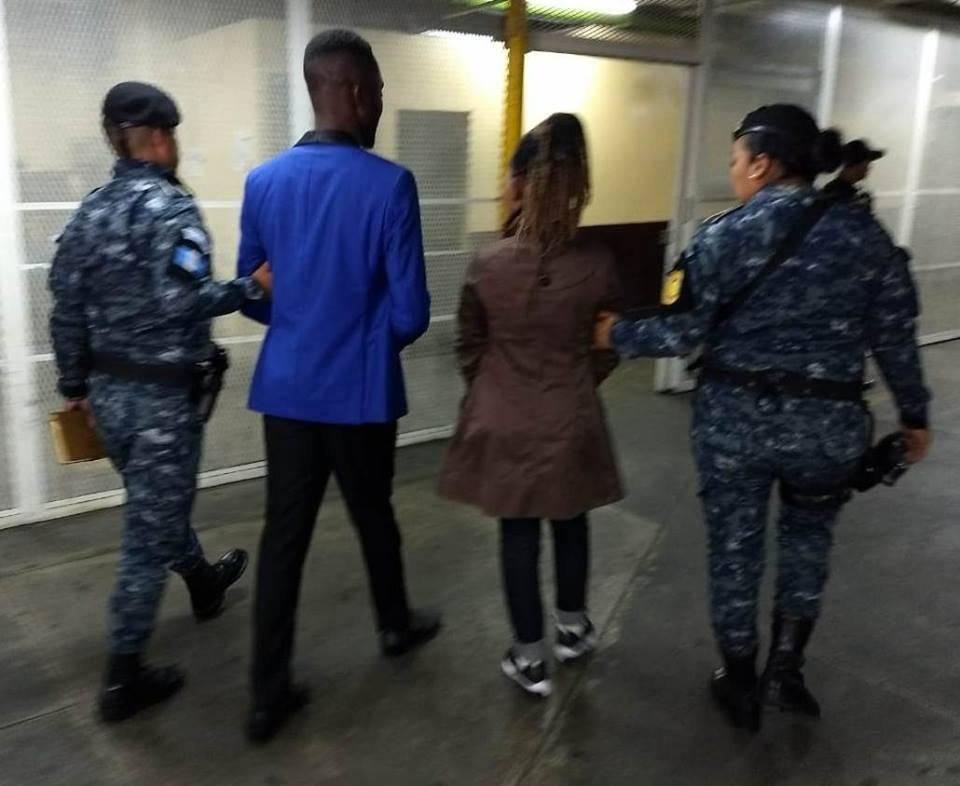ciudadanos de Camerún capturados en aeropuerto La Aurora