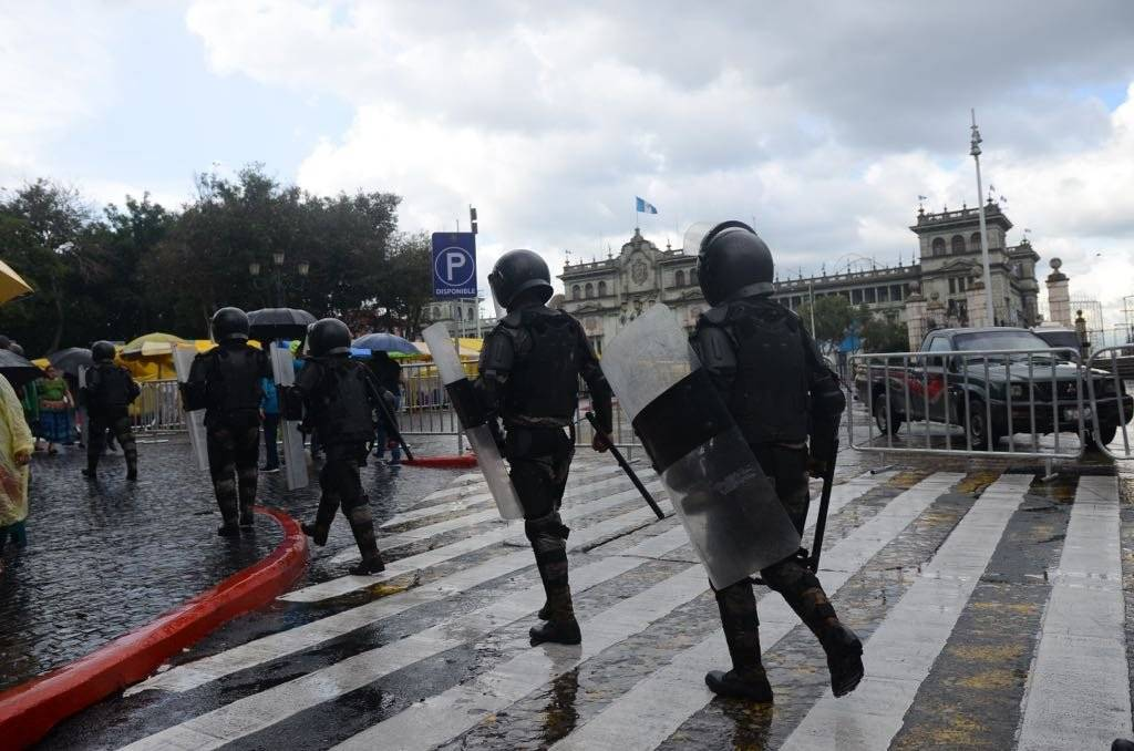 Antimotines del Ejército de Guatemala. Foto: Omar Solís