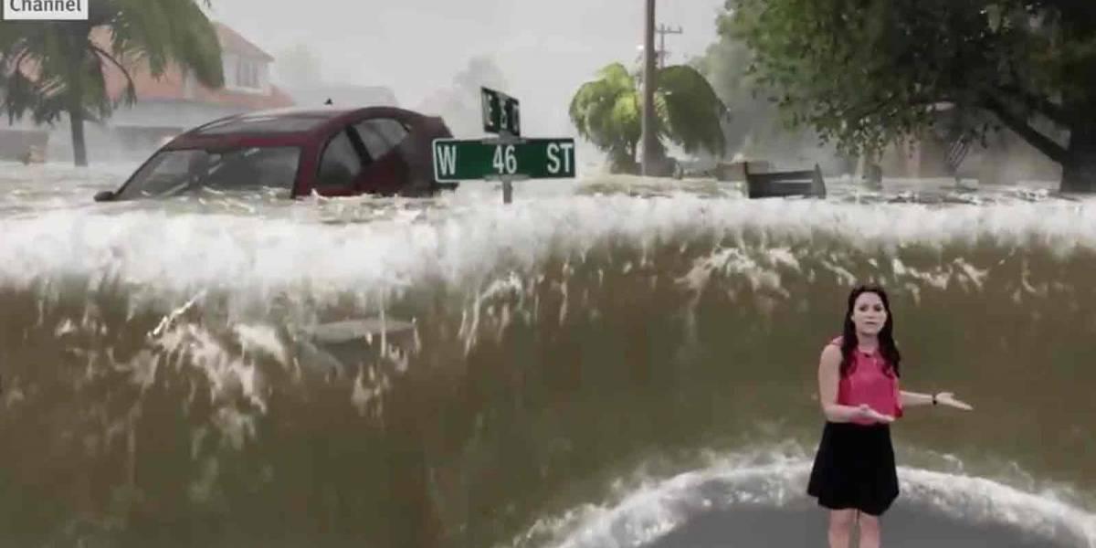 Metereóloga muestra los devastadores efectos del huracán Florence