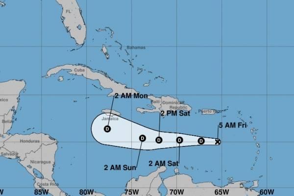 Isaac ahora es una depresión tropical