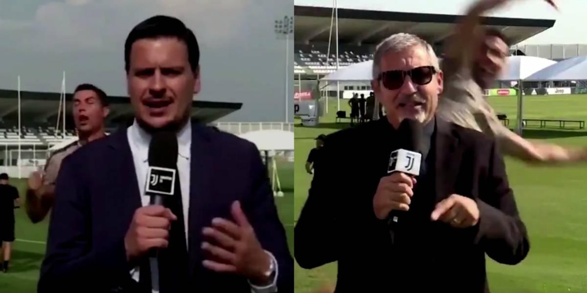 VIDEO: CR7 se 'burla' de periodistas en transmisión en vivo