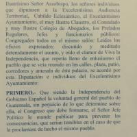 Transcripción acta de independencia