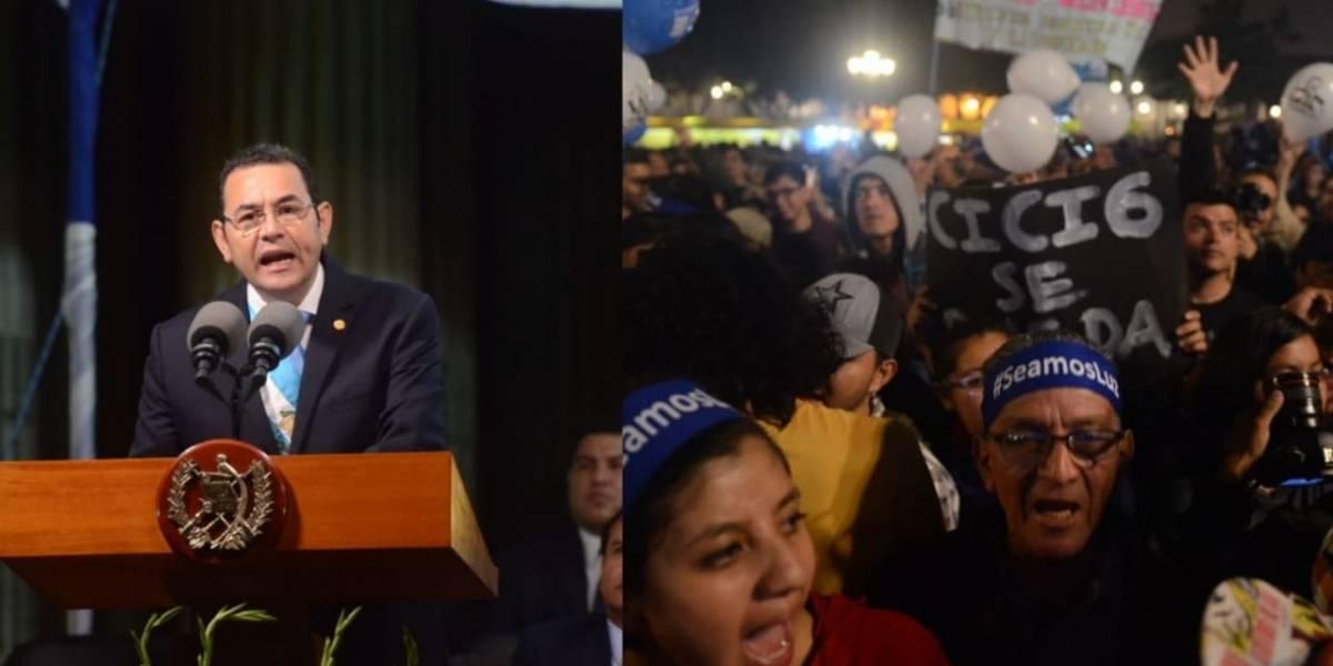 Actividades de Independencia transcurren en medio de protestas contra Jimmy Morales