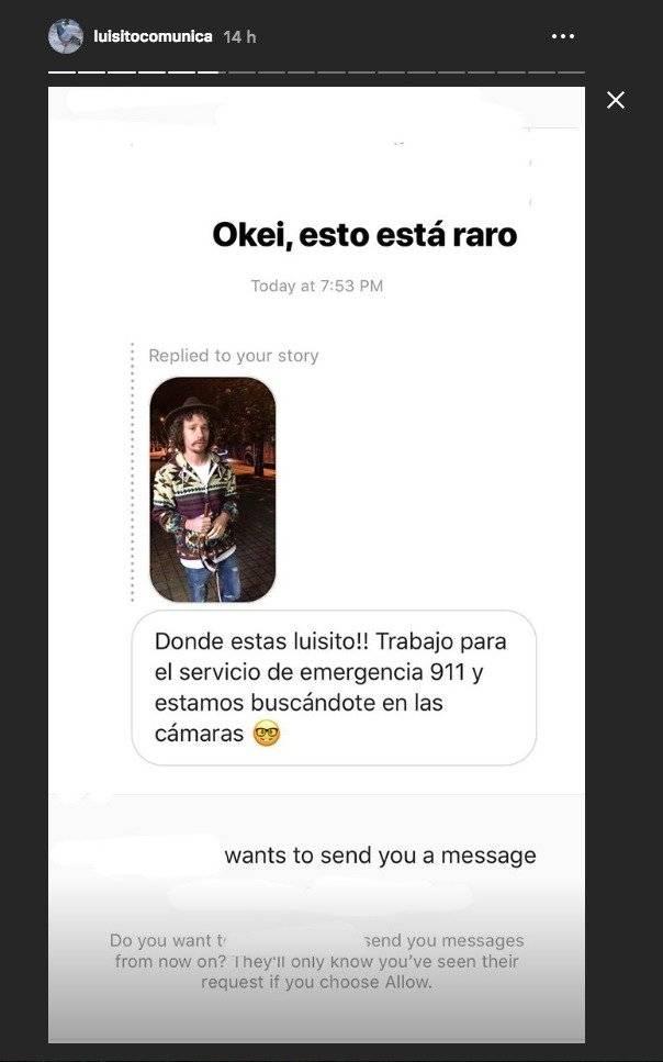 Luisito Comunica publicó un mensaje que le enviaron