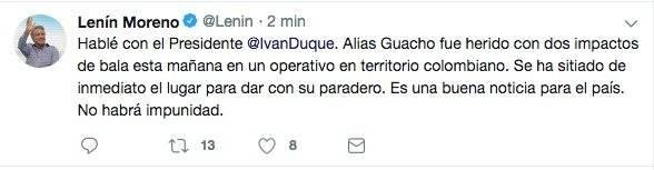 tuit Lenín Moreno