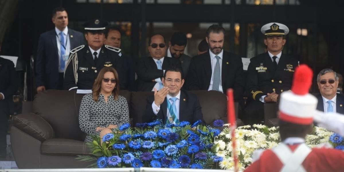 Libertad y soberanía fueron los temas centrales del discurso del presidente Jimmy Morales