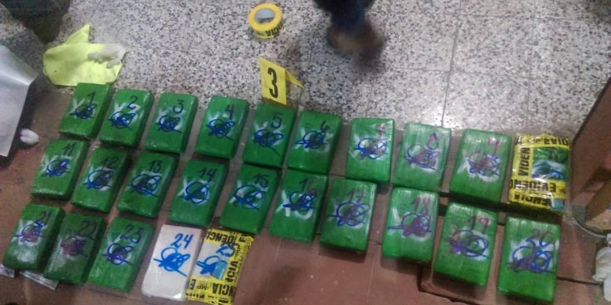 PNC incauta 46 paquetes de cocaína en San Marcos