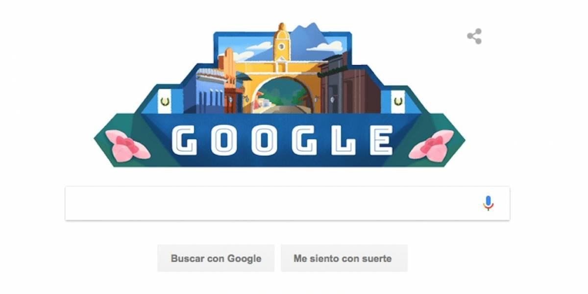 El Doodle que hizo Google por la Independencia de Guatemala