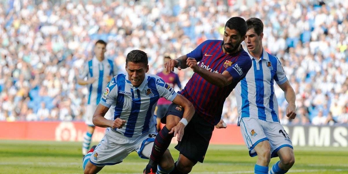 Barcelona obtiene sufrida victoria ante la Real Sociedad de Héctor Moreno