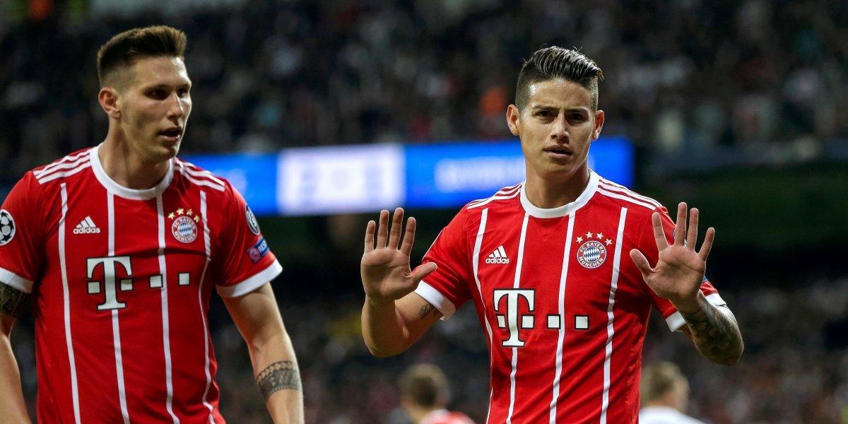 James espera por fin titular con el Bayern, ante el Leverkusen