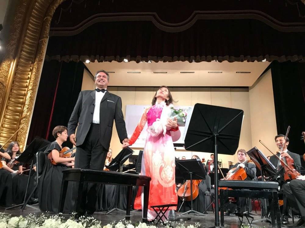 """Celebración en Vietnam con el concierto """"Mexico y Viet Nam: notas de amistad"""". Foto: Twitter @EmbaMexVN"""
